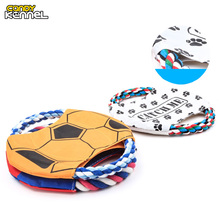 CANDY KENNEL Pet Toys Cotton Rope Waterproof Frisbee Discs Molar Tooth Cleaning Dog Training Toys Cat Toys Pet Supplies D1153(China)