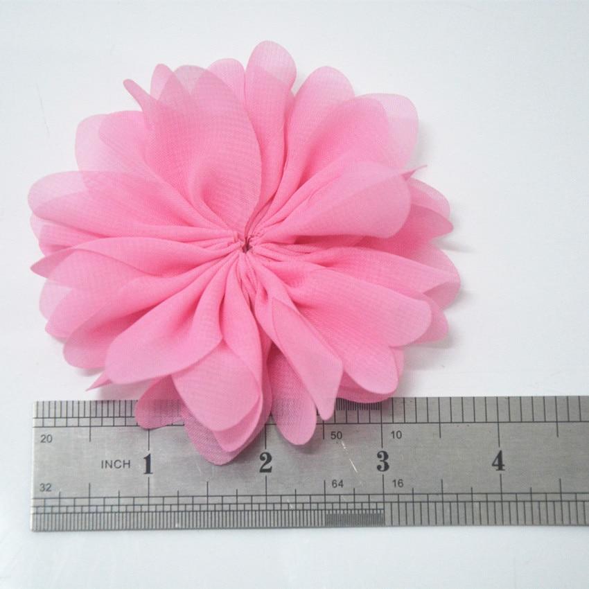 One Tone Color Chiffon Flowers 3.5 Ballerina Chiffon Flower Fabric Flower CustomLavender Scalloped Chiffon Flowers 150 Combinations