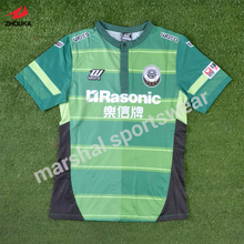 Soccer wear tops blank soccer jersey logos sublimated T shirt polo neck(China)