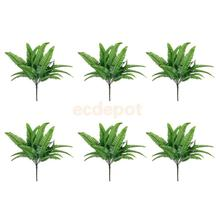 6 Pieces Simulation Imitation Fern Plastic Artificial Grass Leaves Plant Foliage Home Art Decor Crafts