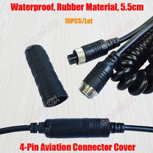 10pcslot 4pin aviation plug connector waterproof dustproof rubber cover cap protector for