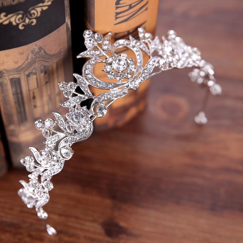 Diverse Silver Crystal Bride tiara Crown Fashion Pearl Queen Wedding Crown Headpiece Wedding Hair Jewelry Accessories Wholesale 10