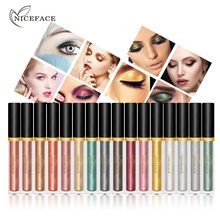 NICEFACE 1PC Waterproof Long Lasting Pearl Liquid Eyeshadow Liquid Eye Shadow Silkworms Liner Stick Glitter Eye Cosmetic Tools(China)