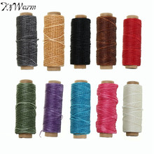 1mm 50m/roll Waxed Thread Cotton Cord String Strap Hand Stitching Thread for Leather Handicraft Tool DIY Material Accessories