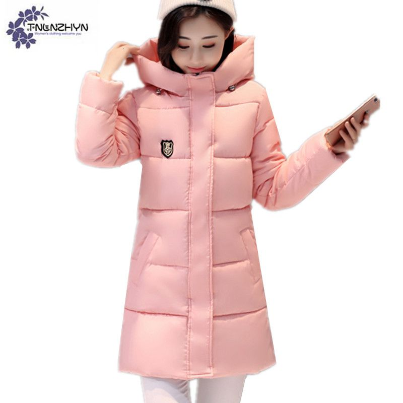 Women clothing warm Cotton jacket coat winter fashion high-end Hooded Down jacket Plus size thicken Female cotton OuterwearWL88 Îäåæäà è àêñåññóàðû<br><br>