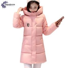 Women clothing warm Cotton jacket coat winter fashion high-end Hooded Down jacket Plus size thicken Female cotton OuterwearWL88