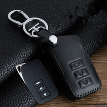 3 Buttons Leather Car Key Cover case Bag Keychain skin Protection Accessories for Lexus RX270 NX200 Smart car Key Remote