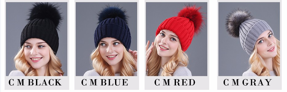 قبعات صوفية  بالوان مختلفة 4