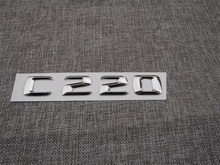 ABS Plastic Car Trunk Rear Letters Badge Emblem Decal Sticker for Mercedes Benz C Class C220