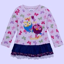 2-5y 2 3 4 5 ages new Cartoon cotton girls dress elegant formal children clothing nova  Top quality baby girl dress 8062