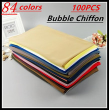 A 56 100pcs/lot High Quality Plain Bubble Chiffon Shawls Headbands Popular Hijab Summer Muslim Scarfs(China)