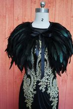 Black Fur Wedding Shrug Cape Bolero Wrap Bridal Shawl Custom made size