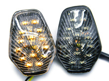 Motorcycle clear LED flush mount turn signals indicators for Suzuki GS X R 600 750 1000(China)