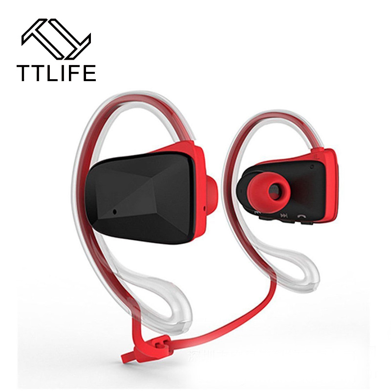 TTLIFE HOT Headset Bluetooth Wireless Sports Headphone Stereo Microphone Earphones Noise Cancelling Waterproof for Phones ipad<br><br>Aliexpress
