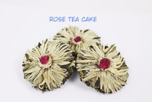 8pcs of the rose tea cake, Chinese flower tea, secented tea cakes with individual package