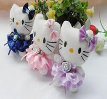 5Pcs/Set 10cm Mini Plush Hello Kitty Doll Bouquet Accesories Wedding Supplies Small Pendant
