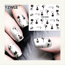 YZWLE  1 Sheet DIY Designer Water Transfer Nails Art Sticker / Nail Water Decals / Nail Stickers Accessories (YZW-8498)