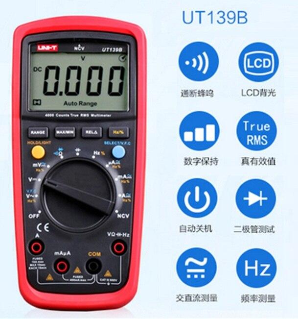 Digital Multimeters UNI-T UT139B True RMS Electrical Handheld Testers Multimetro LCR Meters Ammeter Multitester<br>