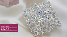 RETAIL Fashion Cheap Exquisite Square Rhinestone Women Wedding large Brooches Pins