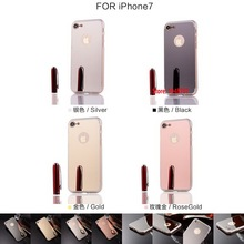 Best Fashion Deluxe Vintage Luxury Cheap New Soft TPU Electroplating Mirror Phone Case For iPhone 7 Black Rose Silver Gold
