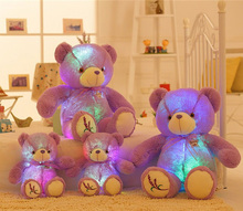 50CM Tall Large Luminous Plush Toy Teddy Bear LED Plush Toy Doll Pillows Kids Girls Birthday Valentine's Day Gift
