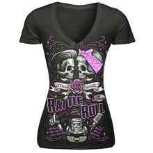 Buy New Summer Couple Skull 3d Print Tees Women Short Sleeve V-Neck T Shirt Black Shirt Spandex Workout Tops Harajukku Punk Rock for $11.61 in AliExpress store
