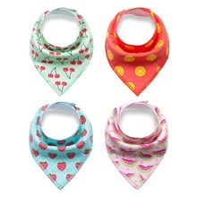4pcs/lot 100% Cotton Baby Bibs Fashion Printed Baby Bibs Burp Cloths Newborn baby Scarf Infant Babador Baby Accessories(China)