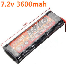 VB Power SC 7.2V 3600MAH NiMH Battery Pack For 1/8 1/10 Scale RC Racing Cars Truck Boats Tank Recharge RC Battery