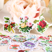 23pcs Creative kawaii self-made Mori beautiful flowers plant decorative scrapbooking stickers /DIY craft photo albums