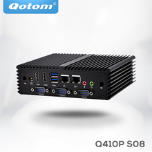 Qotom Dual Lan 4*COM Mini Pc Q410P with Processor 3215U (2M Cache, 1.70 GHz, Broadwell) ,apply to POS systerm, Industrial PC(China)