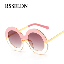 RSSELDN 2017 New Style Brand Women Round Sunglasses Women Famous Brands Retro Fashion Oversize Arrow Mirror Glasses Oculos(China)