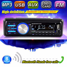 In-Dash 1 DIN 12V Car Tuner Stereo Bluetooth FM Radio AUX-IN MP3 Audio Player USB/SD Port Car Audio Auto Tuner Remote Cont(China)