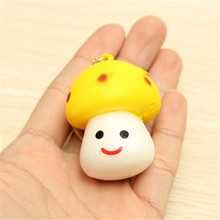 Universal Mushroom Mobile Phone Straps Soft Little Cute Toy Scented Key Chain Phone Bag Key Strap Pendant Decor Gift Randomly(China)