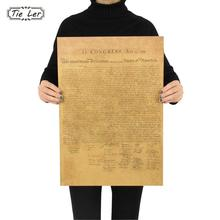 The United States Declaration of Independence Retro Vintage Poster Adornment Movie Poster Wall Sticker(China)