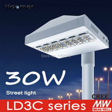 30w stamped heatsink street light. IP67 for outdoor harsh weather. mounting on 60mm pole. Haomer LD3C series Streetlight(China)