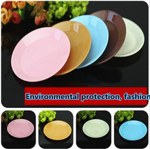 Colorful food grade plastic tableware small dish snack melon seeds flat plate wholesale
