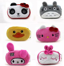 New 12CM approx. Cartoon Hello Kitty , TOTORO Etc. Plush Gift Coin Purse Wallet , Pocket Coin Pouch Case BAG