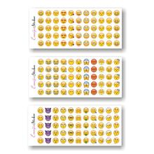 12 Sheets 660 Die Cut Emoji Smile Expression Stickers for Laptop for Notebook Message Baby Children Cartoon Creative phone mp4(China)