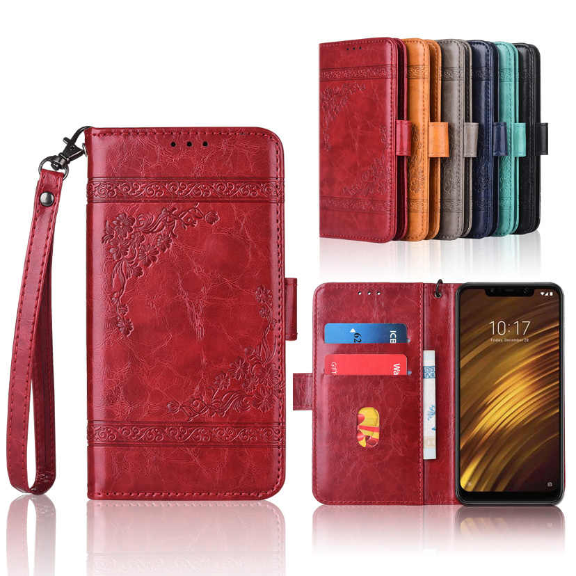 Wallet TPU case for Xiaomi Redmi 5 Plus 4A 4X Note 4 4X 3 Pro 6A Pocophone F1 POCO F1 special leather book case for Mi5s Mi 5s
