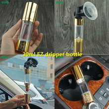 1set 2017 RHS new product 30ml EZ dripper bottle easy to squeeze squonk bottles FDA approved squonk bottles gold silver colors