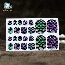 YB012 New Fashion Auto Stick Toe Nail Art Foil Stickers Color Crystal Style Rainbow Stone Manicure Adhesive Decal Nail Wraps