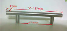 "(Diameter 12mm,Length:127mm) 5""  Furniture Hardware Kitchen Cabinet Handle, Bar Pull Handle Stainless Steel T Handles"