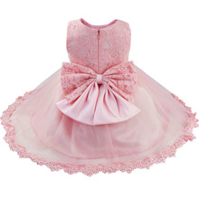 Newborns Infant Baby Girl Birthday Party Dresses Baptism Christening Easter Gown Toddler Princess Lace Flower Dress for 3-24m