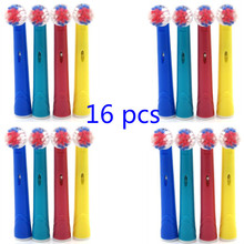 16 pcs Battery Toothbrush Head Soft Bristles Replacement for Oral B Dual Clean Complete Brush Heads(China)