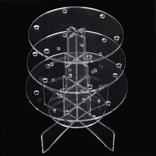 PHFU 3-Tier 18 Holes Acrylic Lollipop Display Holder Stand 4/6mm---Clear