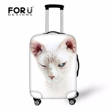"FORUDESIGNS Canadian Hairless Cat Anti-Scratch Luggage Cover for 18""-28"" Trolley Suitcase,Dustproof Suitcasse Protector Covers(China)"