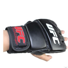 Extension wrist leather mma fighting Kick boxing gloves training taekwondo gloves