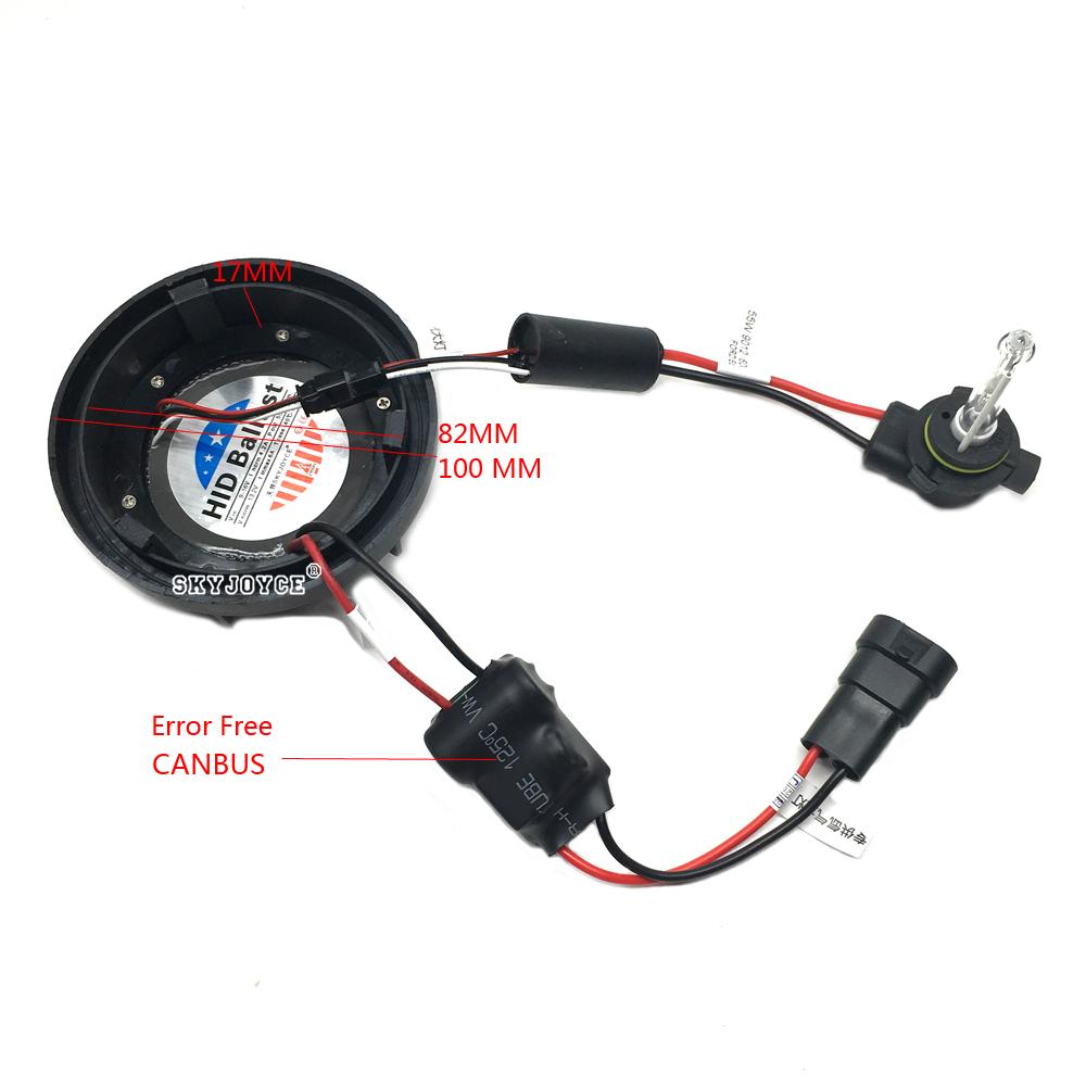 NO Error canbus 55W 9012 hid xenon kit Edge headlight 9012 bi-xenon kit 6000K HIR2 9012 xenon projector bulb brighter than 9012 (9)