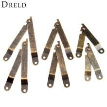 2Pcs Antique Bronze Lid Support Hinges Stay For Box Display Furniture Accessories Cabinet Door Kitchen Cupboard Hinges Lid Stays(China)