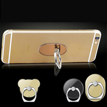UVR 360 Degree plating Acrylic Finger Ring Smartphone Stand Holder mobile phone holder stand For iPhone iPad huawei all Phone